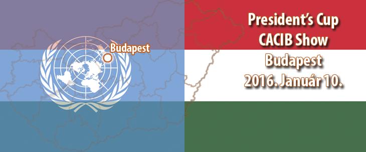 President's Cup CACIB Show – Budapest – 2016. Január 10.