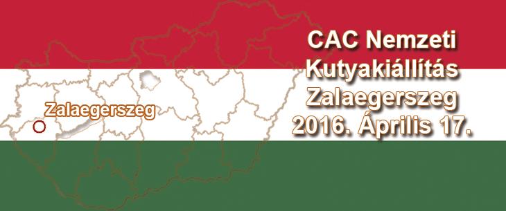 CAC Nemzeti Kutyakiállítás – Zalaegerszeg – 2016. Április 17.