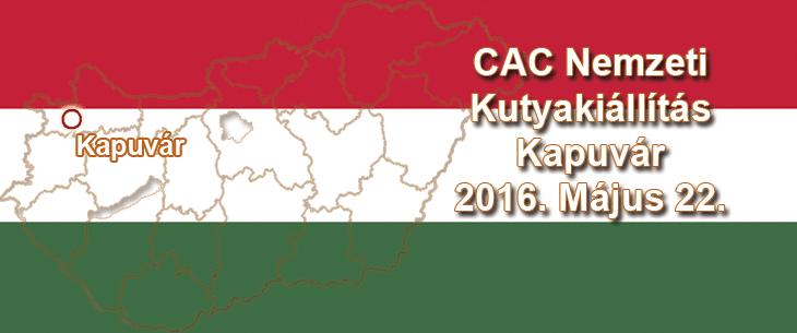 CAC Nemzeti Kutyakiállítás – Kapuvár – 2016. Május 22.