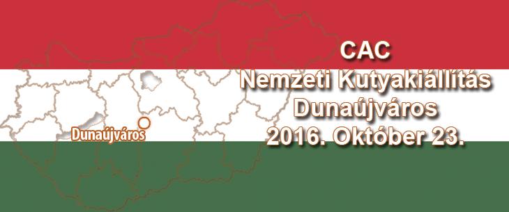 CAC Nemzeti Kutyakiállítás – Dunaújváros – 2016. Október 23.