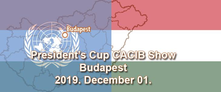 President's Cup CACIB Show – Budapest – 2019. December 01.
